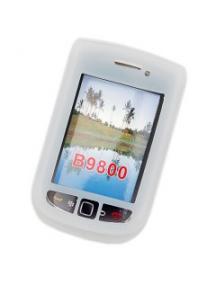 Funda de silicona Blackberry 9800 blanca