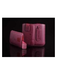 Funda cartuchera en piel Telone Deko granate para iPhone 3
