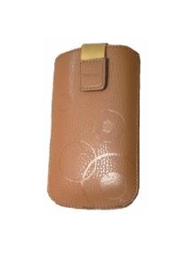 Funda cartuchera en piel Telone Deko marrón claro Nokia E51