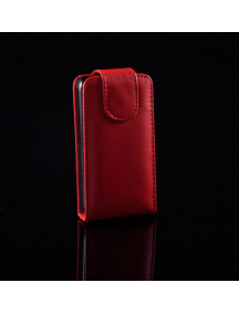 Funda solapa en piel Telone para Samsung S5830 Galaxy Ace roja