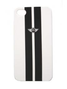 Protector trasero iPhone 4 - 4S Mini Cooper blanco metálico