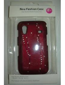 Protector rígido New Fashion rojo Samsung S5830