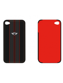 Protector trasero iPhone 4 - 4S Mini Cooper negro con costuras r