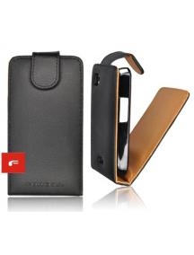 Funda de solapa Forcell Prestige Samsung Galaxy R i9103 negra