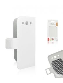 Funda libro slim Samsung Galaxy S III i9300 blanca