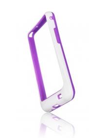 Funda bumpers Forcell Samsung Galaxy S II i9100 violeta - blanca