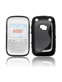 Funda TPU S-case Blackberry 9320 negra