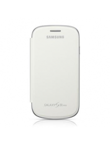 Funda libro Samsung EFC-1M7FW blanca I8190 Galaxy S3 mini