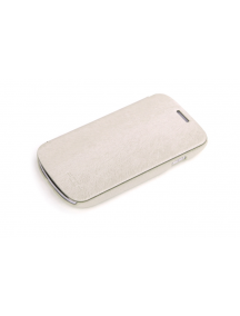 Funda libro Rock Samsung i8190 Galaxy S3 mini crema