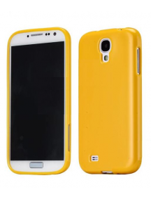 Funda de silicona TPU Samsung i9500 - i9505 Galaxy S4 amarilla