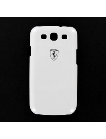 Funda ferrari Metallic rígida Blanca Samsung Galaxy S3 FESIHCS3W